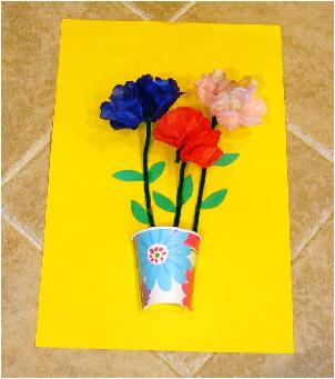 Junefavideas for Art and craft flowers
