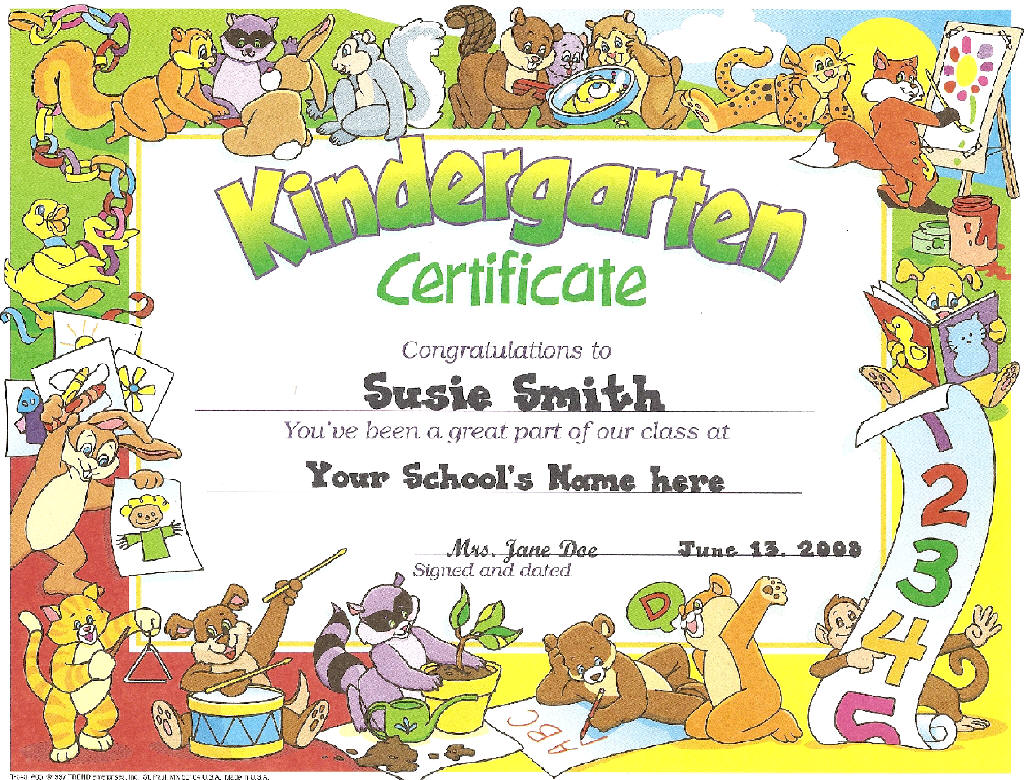 end of the year ideas kindergarten certificates