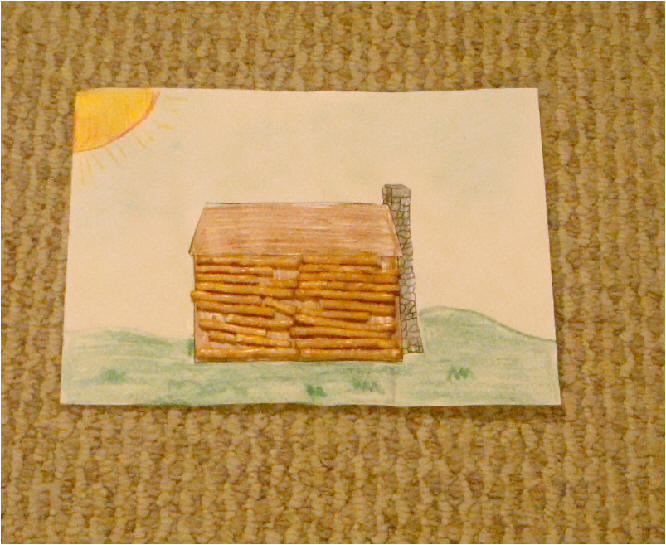 Preschool crafts for kids 12 great president 39 s day for Log cabin project